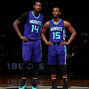 Kemba Walker and Michael Kidd-gilchrist Art Print