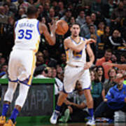 Kevin Durant and Klay Thompson Art Print