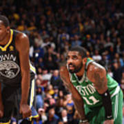 Kevin Durant and Kyrie Irving Art Print