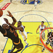 Kevin Durant and Lebron James Art Print