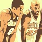 Kobe and Michael Art Print