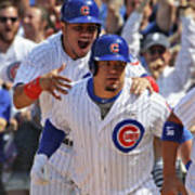 Kyle Schwarber and Willson Contreras Art Print
