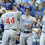 Kyle Schwarber, Anthony Rizzo, And Chris Coghlan Art Print