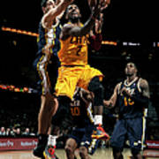 Kyrie Irving and Enes Kanter Art Print