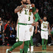 Kyrie Irving and Marcus Morris Art Print