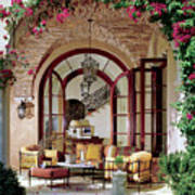 Loggia of a Tuscan-style House Art Print