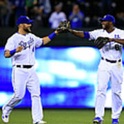 Lorenzo Cain and Alex Gordon Art Print