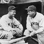 Lou Gehrig and Babe Ruth Art Print