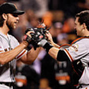 Madison Bumgarner and Buster Posey Art Print