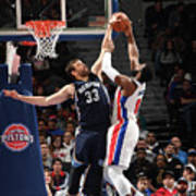 Marc Gasol and Andre Drummond Art Print