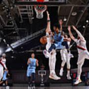 Memphis Grizzlies v Portland Trail Blazers Art Print