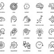 Mentoring Icon Set Art Print