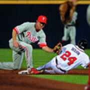Michael Bourn and Chase Utley Art Print