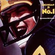 Michigan Qb Rick Leach, 1976 College Football Preview Sports Illustrated Cover Art Print