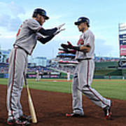 Mike Foltynewicz And Jace Peterson Art Print