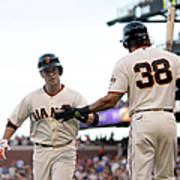 Mike Morse and Buster Posey Art Print
