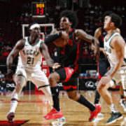 Milwaukee Bucks v Houston Rockets Art Print