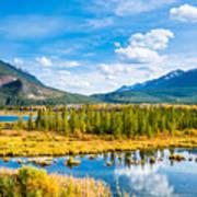 Minnewanka lake in Canadian Rockies in Banff Alberta Canada Art Print