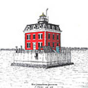 New London Ledge Lighthouse Art Print