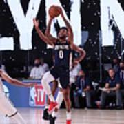 New Orleans Pelicans v Brooklyn Nets Art Print