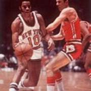New York Knicks Walt Frazier... Sports Illustrated Cover Art Print
