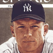 New York Yankees Mickey Mantle Sports Illustrated Cover Art Print