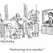 News Masochists Art Print