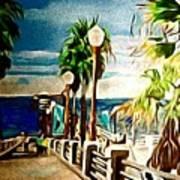 Oceanside Peir Art Print