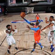 Oklahoma City Thunder v Boston Celtics Art Print