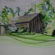 Old Barn At Wason Pond Art Print