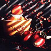 Ornamental Crabapples Art Print