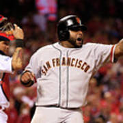 Pablo Sandoval, Yadier Molina, and Hunter Pence Art Print