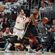 Paul George and Kevin Love Art Print
