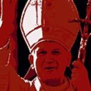 Pope John Paul II Blessing Art Print