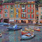Portofino al crepuscolo Art Print