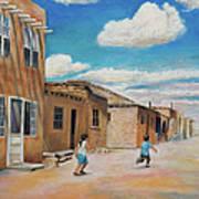 Pueblo Playground Art Print