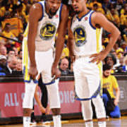 Quinn Cook and Kevin Durant Art Print