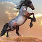 Rearing War Horse Art Print