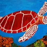 Red Turtle And Friend Painting By Robert Ransom