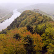 River Moselle in Autumn Art Print