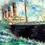 RMS Titanic White Star Line Ship Art Print