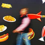 Rocket Lunch Art Print