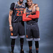 Russell Westbrook and Anthony Davis Art Print