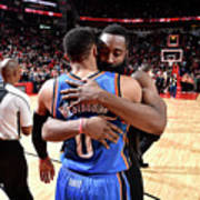 Russell Westbrook and James Harden Art Print