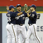 Ryan Braun, Gerardo Parra, and Carlos Gomez Art Print