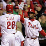 Ryan Howard, Jimmy Rollins, and Chase Utley Art Print