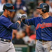 Ryan Raburn and Yan Gomes Art Print