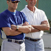 Sandy Koufax And Joe Torre Art Print