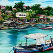 Sanfernando Wharf Art Print