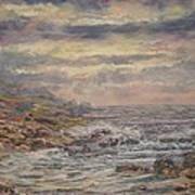 Seascape With Clouds. Art Print